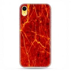 Apple iPhone XR - etui na telefon - Czerwony marmur ze złotymi liniami