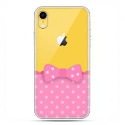Apple iPhone XR - etui na telefon - Polka dot różowa kokardka