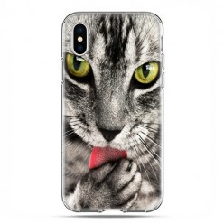 Apple iPhone Xs Max - etui na telefon - Kot liżący łapę