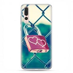 Huawei P20 Pro - silikonowe etui na telefon - Kłódka symbol wiecznej miłości