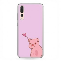 Huawei P20 Pro - silikonowe etui na telefon - Zakochana świnka
