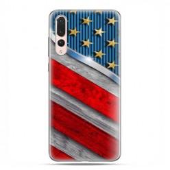 Huawei P20 Pro - silikonowe etui na telefon - Amerykańskie barwy