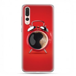 Huawei P20 Pro - silikonowe etui na telefon - Kawa poranny budzik