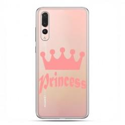 Huawei P20 Pro - silikonowe etui na telefon - Princess z różową koroną