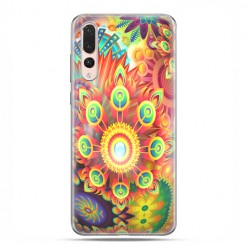Huawei P20 Pro - silikonowe etui na telefon - Ognista rozeta