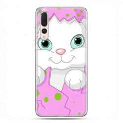 Huawei P20 Pro - silikonowe etui na telefon - Różowy królik