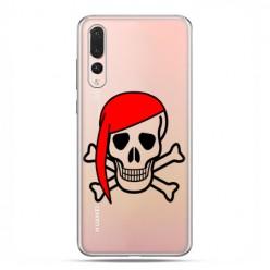 Huawei P20 Pro - silikonowe etui na telefon - Pirat Roger z czerwoną chustą