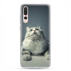 Huawei P20 Pro - silikonowe etui na telefon - Ciekawski szary kot