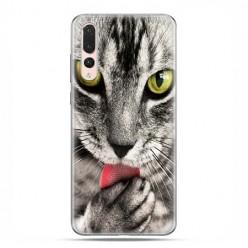 Huawei P20 Pro - silikonowe etui na telefon - Kot liżący łapę