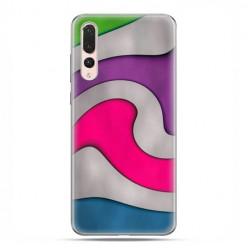 Huawei P20 Pro - silikonowe etui na telefon - Kolorowa roztopiona plastelina