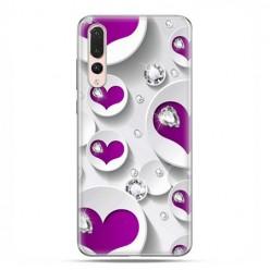 Huawei P20 Pro - silikonowe etui na telefon - Serce i diament