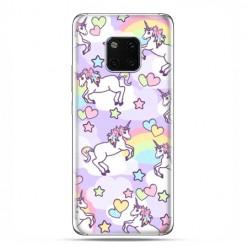 Huawei Mate 20 Pro - nakładka etui na telefon - Zakochane jednorożce