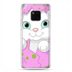 Huawei Mate 20 Pro - nakładka etui na telefon - Różowy królik