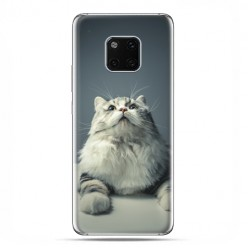 Huawei Mate 20 Pro - nakładka etui na telefon - Ciekawski szary kot