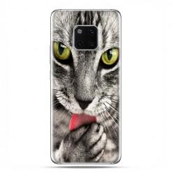 Huawei Mate 20 Pro - nakładka etui na telefon - Kot liżący łapę