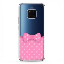 Huawei Mate 20 Pro - nakładka etui na telefon - Polka dot różowa kokardka