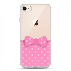 Apple iPhone 8 - etui case na telefon - Polka dot różowa kokardka