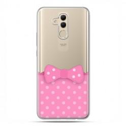Huawei Mate 20 Lite - etui na telefon - Polka dot różowa kokardka