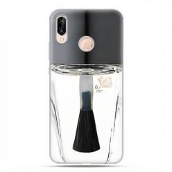 Huawei P20 Lite - etui nakładka na telefon Bezbarwny lakier do paznokci