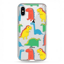Apple iPhone Xs Max - etui na telefon - Kolorowe dinozaury