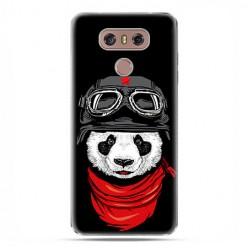 LG G6 - etui na telefon z grafiką - Panda w czapce.