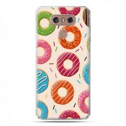 LG G6 - etui na telefon z grafiką - Kolorowe pączki.
