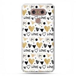 LG G6 - etui na telefon z grafiką - Serduszka Love.