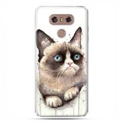 LG G6 - etui na telefon z grafiką - Kot zrzęda watercolor.