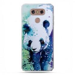 LG G6 - etui na telefon z grafiką - Miś panda watercolor.