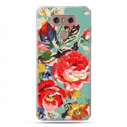LG G6 - etui na telefon z grafiką - Kolorowe róże.