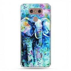 LG G6 - etui na telefon z grafiką - Kolorowy słoń.