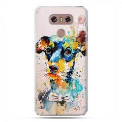 LG G6 - etui na telefon z grafiką - Szczeniak watercolor.