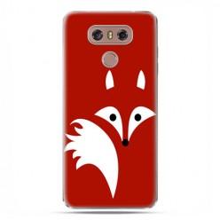 LG G6 - etui na telefon z grafiką - Czerwony lisek.