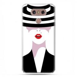 LG G6 - etui na telefon z grafiką - Kobieta w kapeluszu.