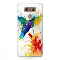 LG G6 - etui na telefon z grafiką - Niebieski koliber watercolor.