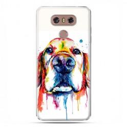 LG G6 - etui na telefon z grafiką - Pies labrador watercolor.