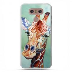 LG G6 - etui na telefon z grafiką - Żyrafa watercolor.