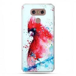 LG G6 - etui na telefon z grafiką - Czerwona papuga watercolor.