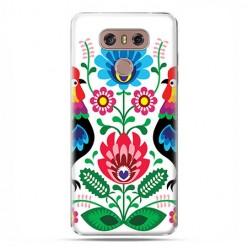 LG G6 - etui na telefon z grafiką - Łowickie wzory kwiaty.