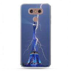 LG G6 - etui na telefon z grafiką - Wieża Eiffla z błyskawicą.