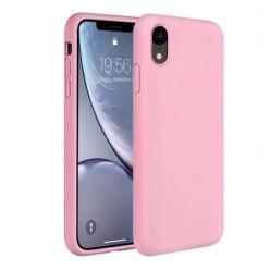 Apple iPhone X - Matowe silikonowe etui Silicone Case - różowy pokrowiec