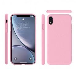 Apple iPhone Xs - Matowe silikonowe etui Silicone Case - Różowy pokrowiec