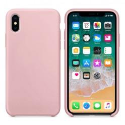 Apple iPhone Xs Max - Matowe silikonowe etui Silicone Case - Różowy pokrowiec