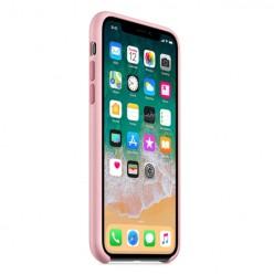 Apple iPhone 7 - Matowe silikonowe etui Silicone Case - różowy pokrowiec