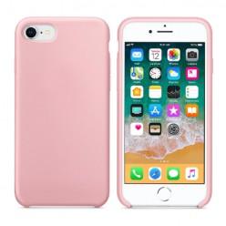 Matowe elastyczne silikonowe etui Silicone Case - różowy pokrowiec - Apple iPhone 8