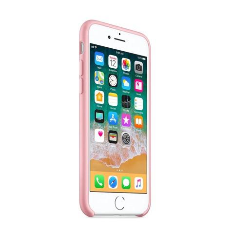 Apple iPhone 6 / 6s Matowe silikonowe etui Silicone Case - różowy pokrowiec