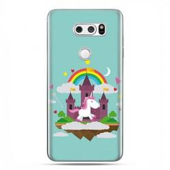 LG V30 - etui na telefon z grafiką - Tęczowy jednorożec.