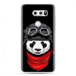 LG V30 - etui na telefon z grafiką - Panda w czapce.