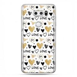 LG V30 - etui na telefon z grafiką - Serduszka Love.