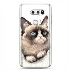 LG V30 - etui na telefon z grafiką - Kot zrzęda watercolor.